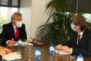 Lucrecio Fernández se reúne con el alcalde de Soria