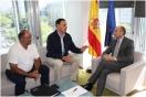 Reunión Alejandro Soler y el alcalde de Lebrija
