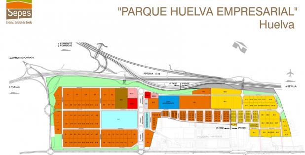 Parcelario 01 Parque Huelva Empresarial 2018
