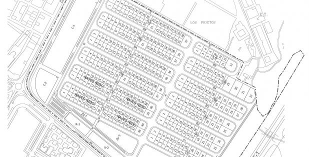 Plano parcelario naves Arinaga