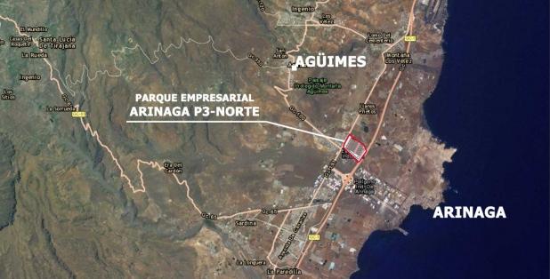 Plano de situación naves Arinaga