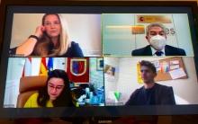 Fernández se reúne por videoconferencia con la alcaldesa de Calahorra