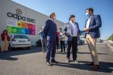 El director general de Sepes y el alcalde de Huelva visitan Parque Huelva Empresarial